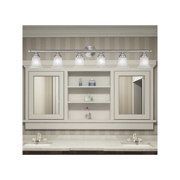 Home Basics Brushed Nickel Six-Light Bath Fixture, image 6