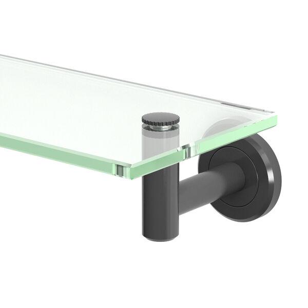 Latitude II Matte Black Glass Shelf, image 2