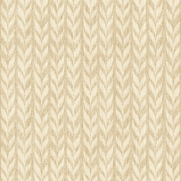 Ashford Geometrics Light Brown and Cream Graphic Knit Wallpaper: Sample Swatch Only, image 1