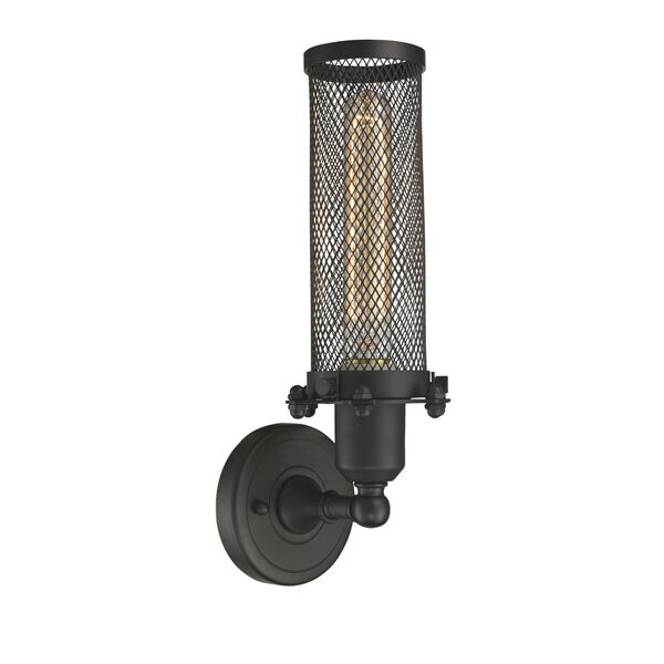 Austere Oil Rubbed Bronze Five-Inch One-Light Wall Sconce with Quincy Hall Oil Rubbed Bronze Metal Shade, image 2