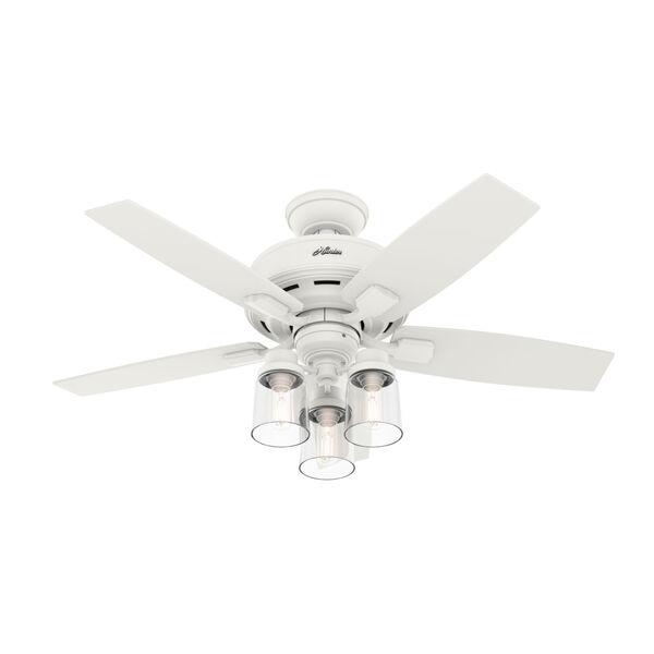 Bennett Matte White 44-Inch Three-Light LED Ceiling Fan, image 1