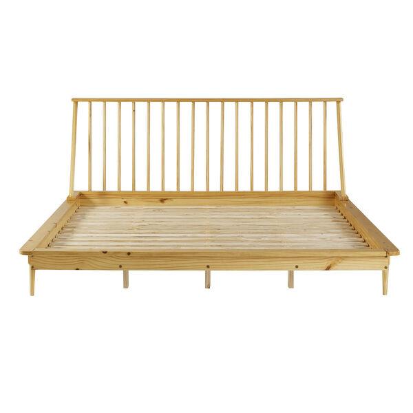 Light Oak Solid Wood Spindle Platform King Bed, image 4