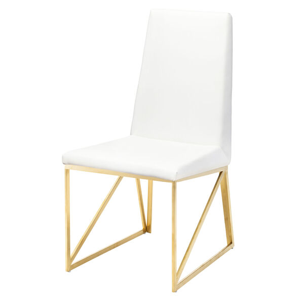 Caprice White and Gold Dining Chair, image 5