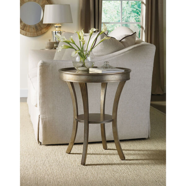 Sanctuary Round Mirrored Accent Table - Visage, image 3