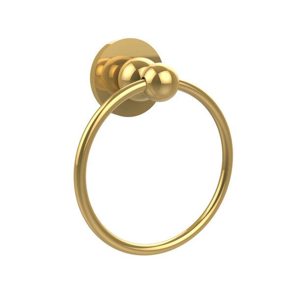 Polished Brass Towel Ring, image 1