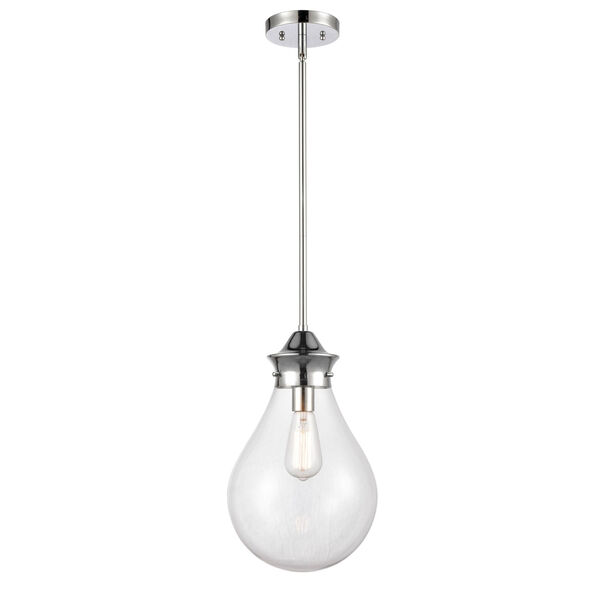 Genesis Polished Chrome 10-Inch One-Light Pendant with Clear Glass Shade, image 1