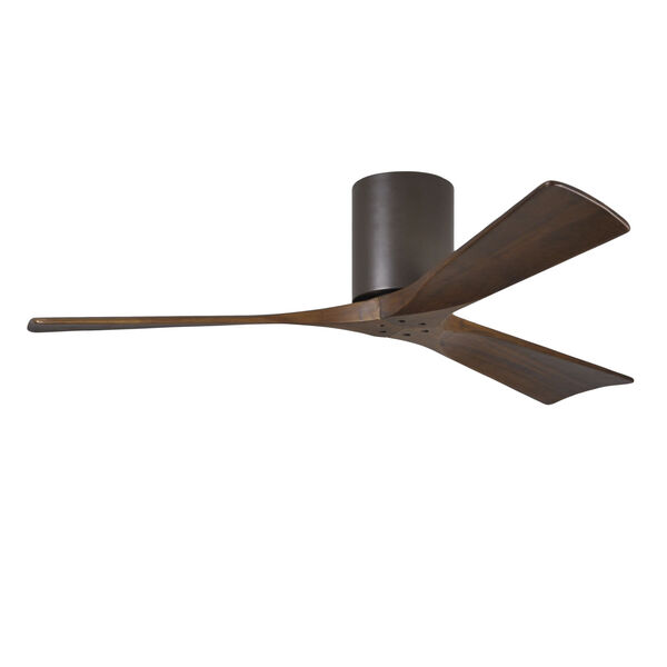 Irene-H 3 Textured Bronze 52-Inch Hugger-Style Ceiling Fan with Wood Blades, image 1