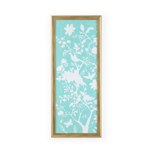 Gold Graphic Chinoiserie I Wall Art, image 1