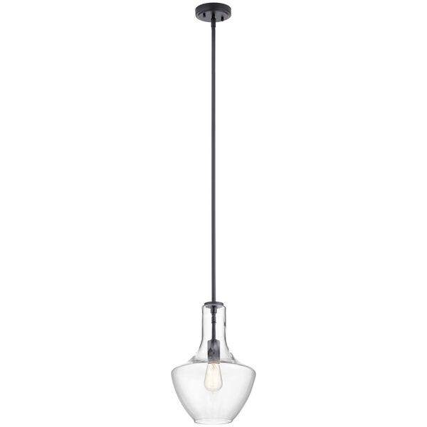 Everly Black 15-Inch One-Light Pendant, image 1
