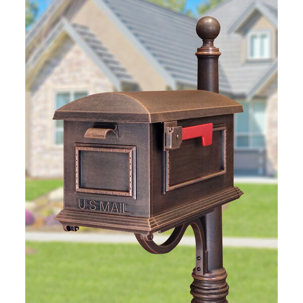 Traditional Copper Curbside Mailbox, image 2