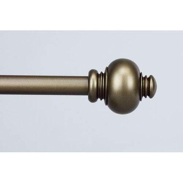 Classic Antique Gold 28 to 48 Inch Knob Curtain Rod, image 1