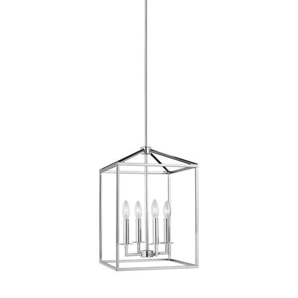 Perryton Chrome Four-Light Lantern Pendant, image 1