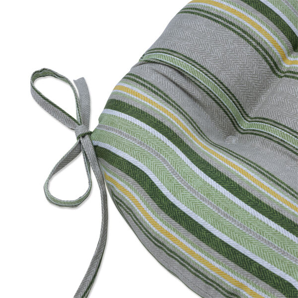 Terrace Green Natural Yellow Large Chairpad, Set of Two, image 2