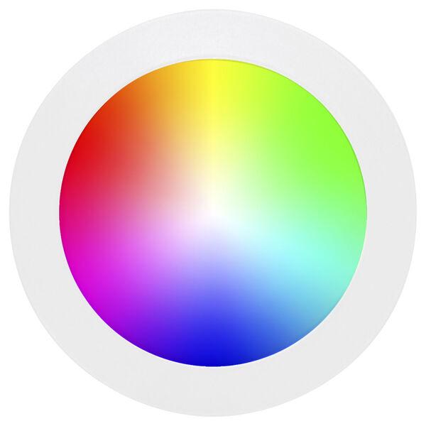 White Wi-Fi RGB LED Recessed Fixture Kit, image 5