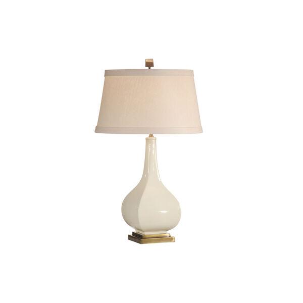 Beige One-Light 12-Inch Dawson Lamp, image 1