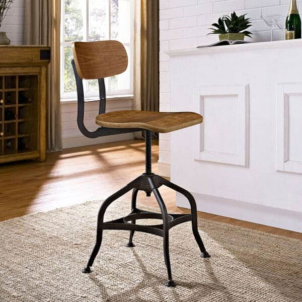 River Station Brown Laminated Bentwood Seat and Back Bar Stool, image 1