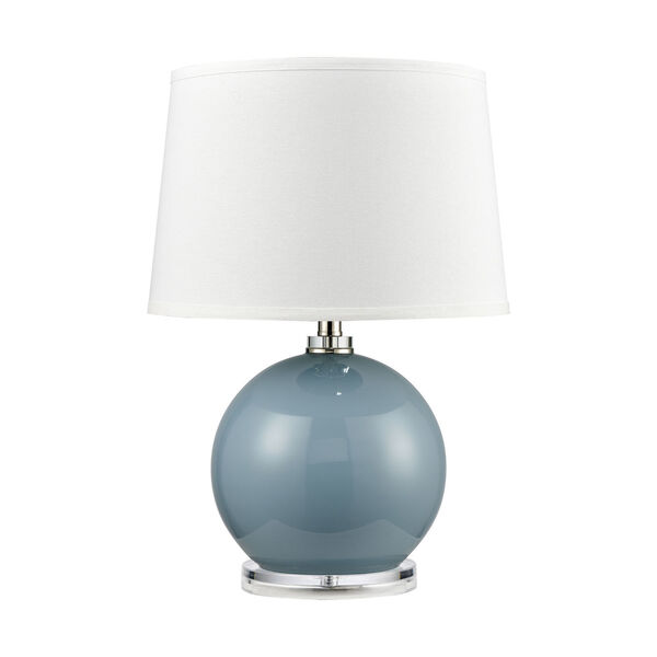 Culland Azure Blue and Polished Nickel One-Light Table Lamp, image 2