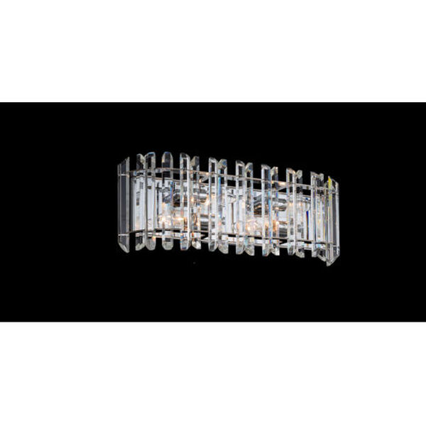 Viano Polished Chrome 19-Inch Four-Light Bath Vanity with Firenze Crystal, image 2