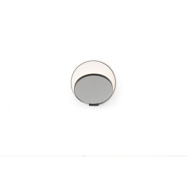 Gravy Metallic Black Silver LED Hardwire Wall Sconce, image 2