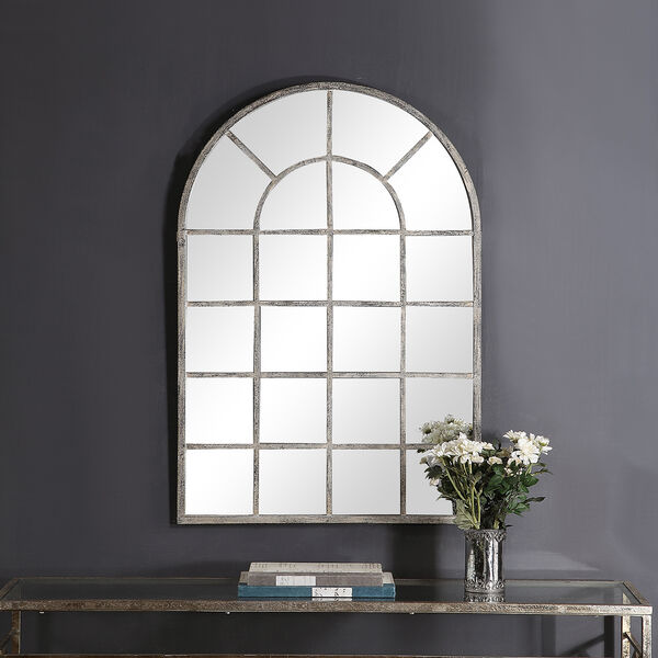 Grace Arched Rustic Gray Mirror, image 1