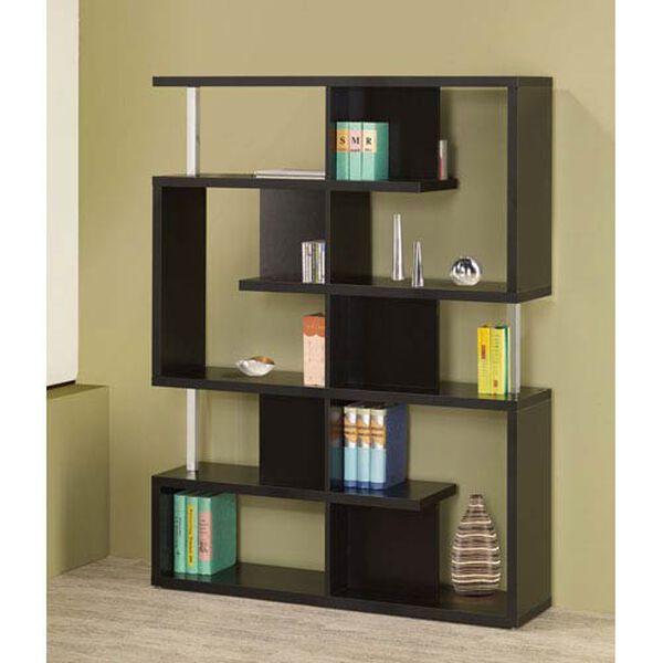 Black Modern Bookcase, image 1