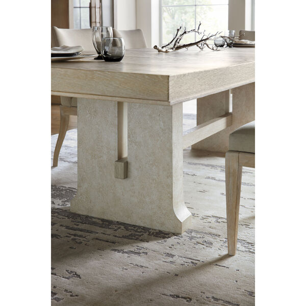 Cascade Taupe Rectangle Dining Table with One 22-Inch Leaf, image 5
