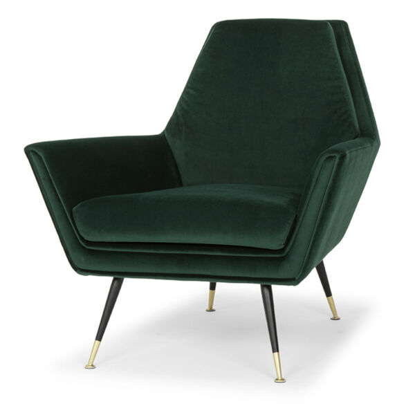 Vanessa Emerald Green and Black Occasional Chair, image 1