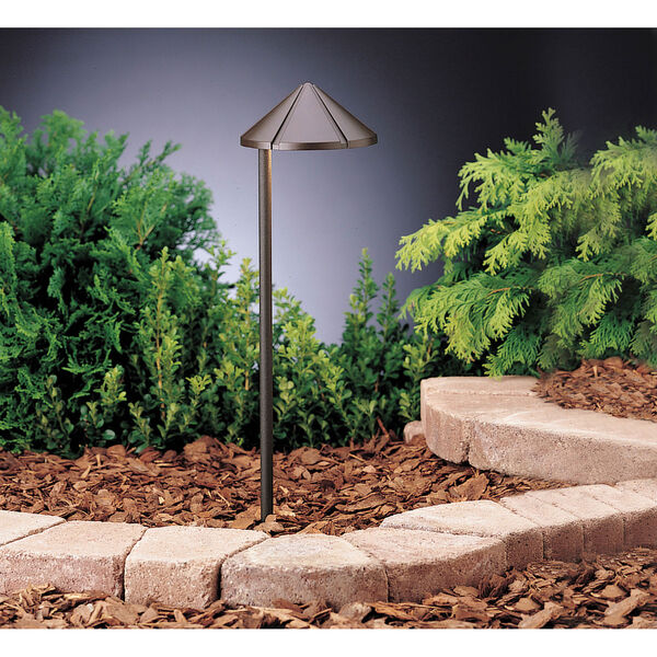 Six Groove Textured Architectural Bronze 19.5-Inch One-Light Landscape Path Light, image 1