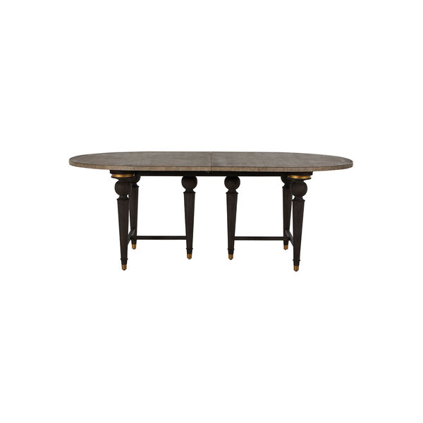 Roderick Light Blonde and Dark Brown Dining Table, image 4