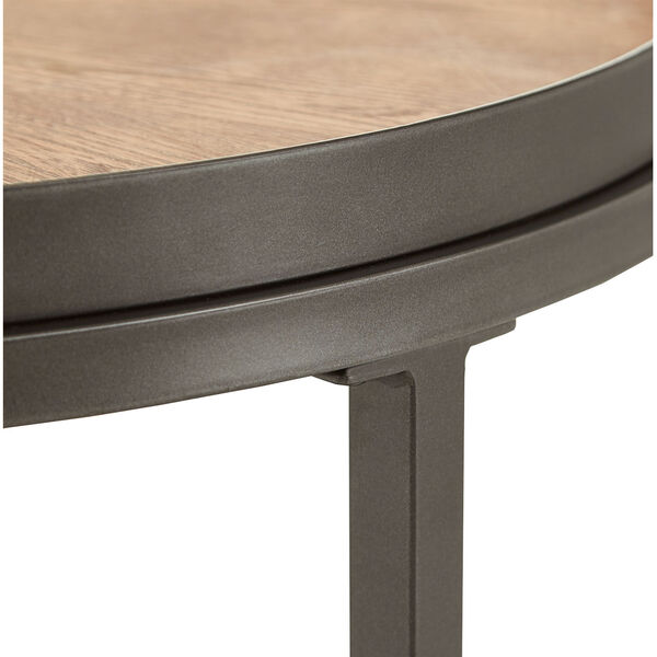 Cliff Gray Oak Round End Table, image 5