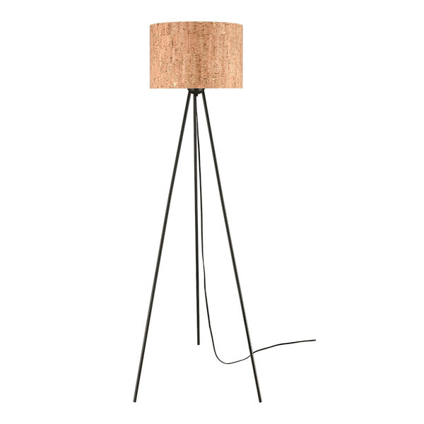 Flemming Matte Black One-Light Floor Lamp, image 2