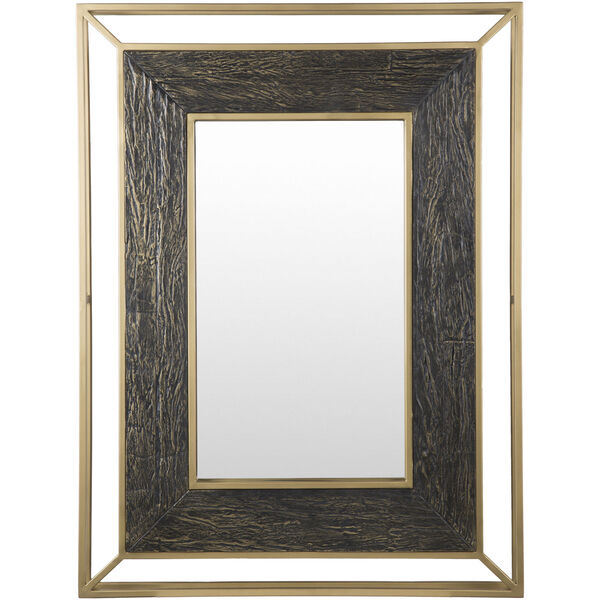 Allure Brown and Gold Wall Mirror, image 2