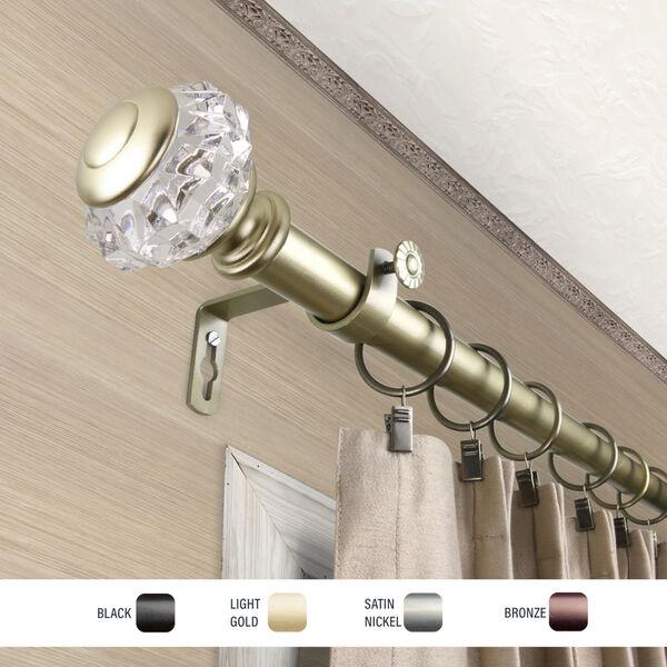 Inez Gold 120-170 Inch Curtain Rod, image 3