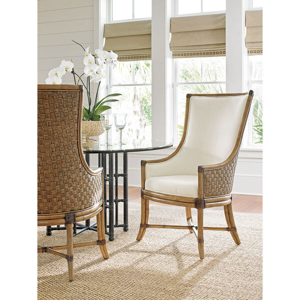 Twin Palms Brown and White Balfour Host Chair, image 2