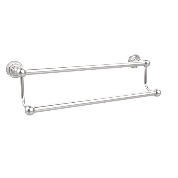 Satin Chrome Double Towel Bar, image 1