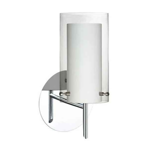 Pahu 4 Chrome One-Light LED Bath Sconce with Clear Glass, image 1