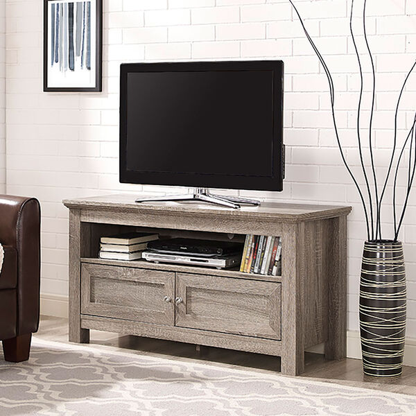 44-inch Wood TV Stand - Driftwood, image 1