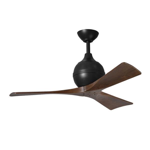 Irene-3 Matte Black and Walnut 42-Inch Outdoor Ceiling Fan, image 1