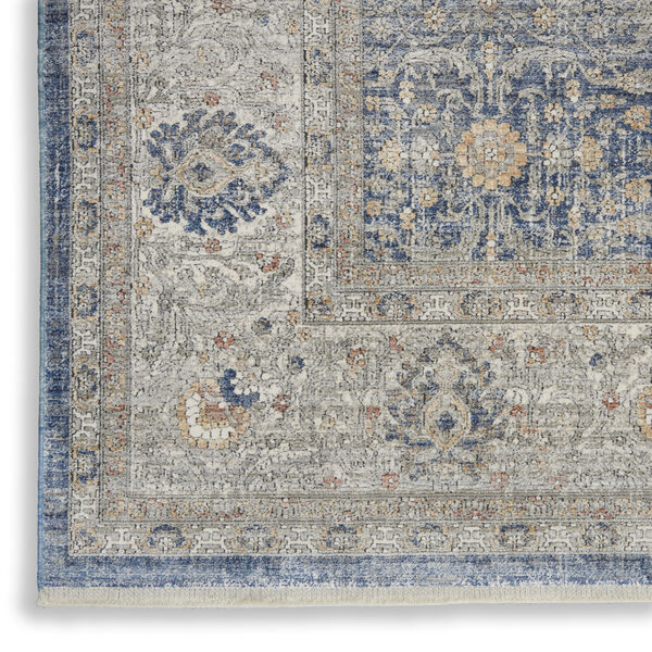 Starry Nights Light Blue Rectangular: 5 Ft. 3 In. x 7 Ft. 3 In. Area Rug, image 5