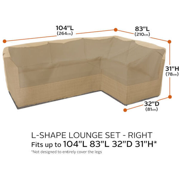 Palm Sand Patio Right Facing Sectional Lounge Set Cover, image 4