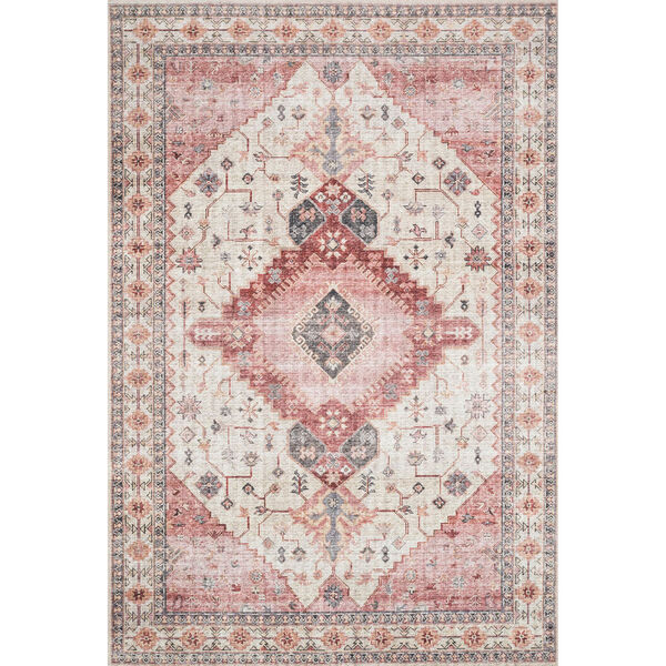 Skye Ivory And Berry Rectangular: 3 Ft. 6 In. X 5 Ft. 6 In. Rug, image 1