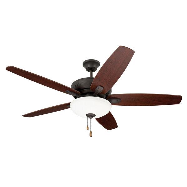 Pro Series Oil Rubbed Bronze Ashland Three Light Ceiling Fan, image 1