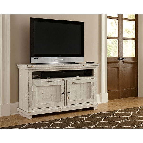 Willow Distressed White 54-Inch Console, image 1
