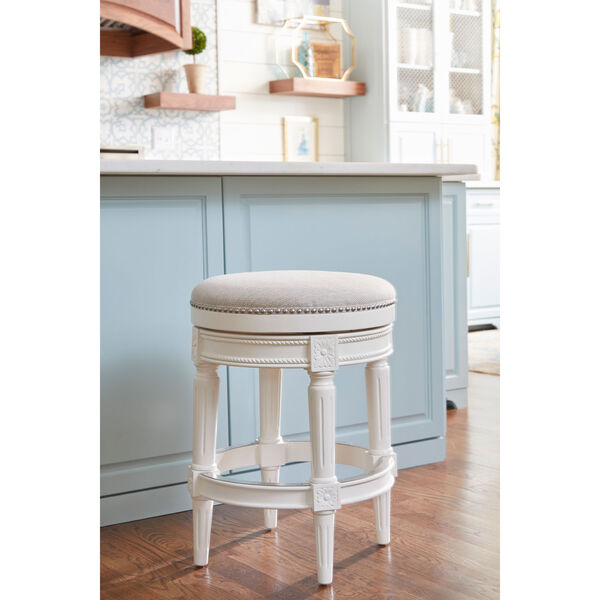 Chapman Alabaster White Backless Counter Height Stool, image 6