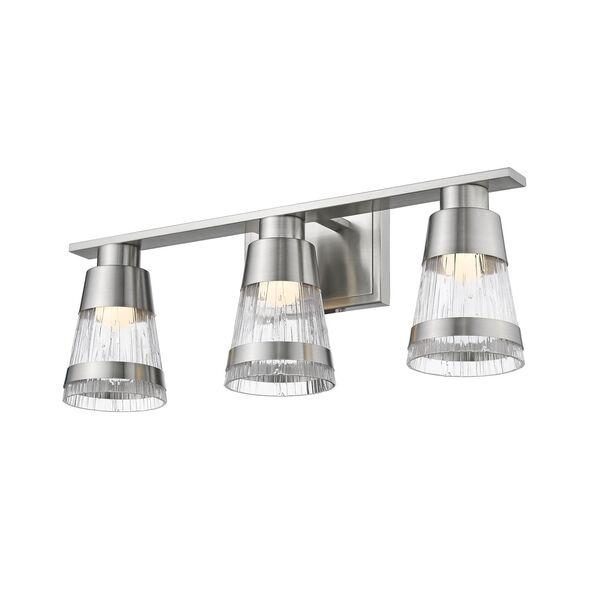 Ethos Brushed Nickel Three-Light LED Bath Vanity, image 3