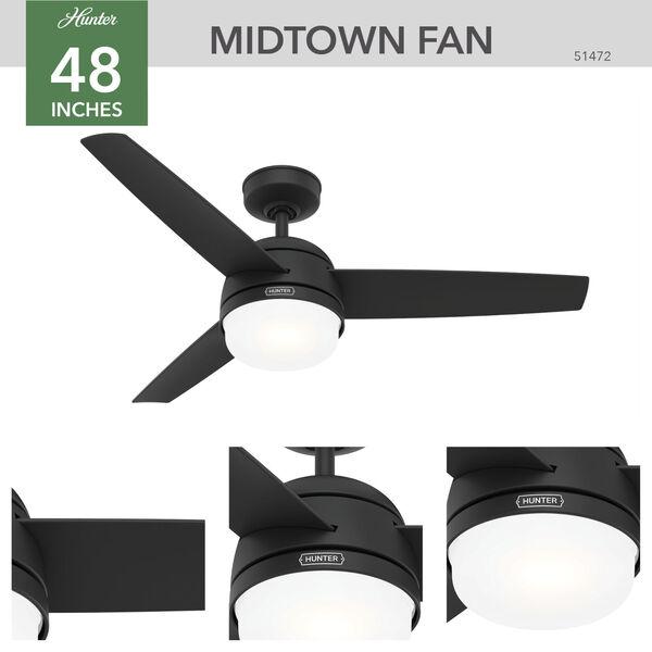 Midtown Matte Black 48-Inch Two-Light LED Ceiling Fan, image 3