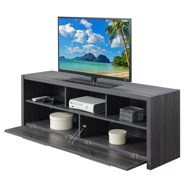Newport Weathered Gray MDF 60-Inch Marbella TV Stand, image 2