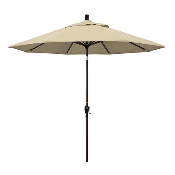 9 Foot Umbrella Aluminum Market Push Tilt - Bronze/Sunbrella/Antique Beige, image 1