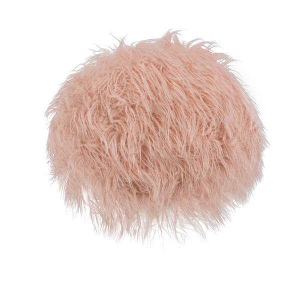Aiden Pink Fur Stool, image 3