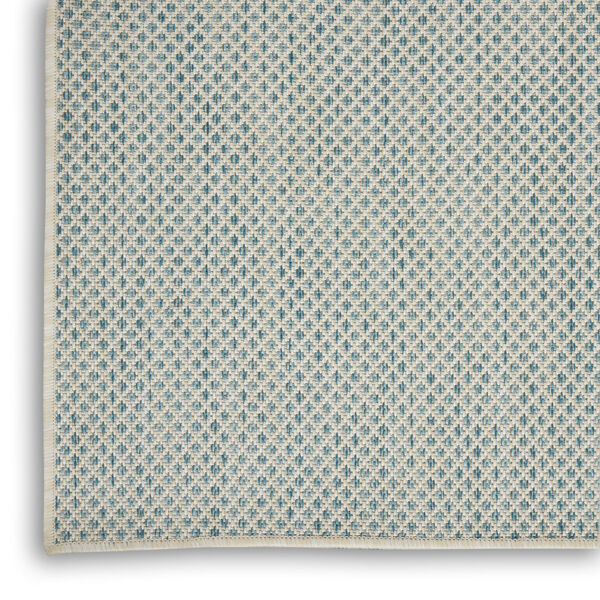 Courtyard Ivory and Aqua 6 Ft. x 9 Ft. Rectangle Indoor/Outdoor Area Rug, image 5